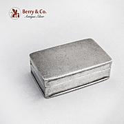 Rectangular Pill Box Sterling Silver
