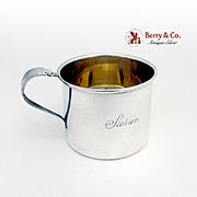 Baby Cup Sterling Silver Plymouth Rosebud Monogram Susan