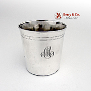 Antique French Beaker Julep Cup Sterling Silver 1890