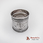 Aesthetic Napkin Ring Sterling Silver Gorham Silversmiths 1884