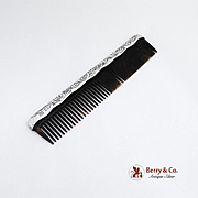 Aci Etched Hair Comb Sterling Silver Gorham Silversmiths 1900