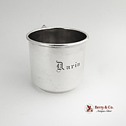 Baby Cup Sterling Silver International Monogram Darin