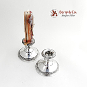Gadrooned Candlesticks Sterling Silver Crown