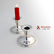Gadrooned Candlesticks Sterling Silver International