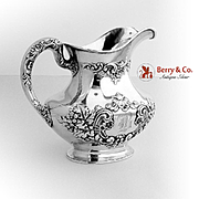 Buttercup Water Pitcher Sterling Silver Gorham Silversmiths