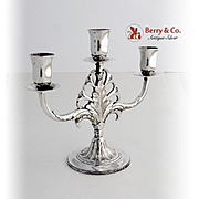 Marquise Three Light Candelabrum Silverplate Rogers