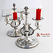 Louis XIV 2 Candelabra Sterling Silver Towle 1924
