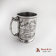 Aesthetic Nursery Rhyme Baby Cup Silverplate Reed and Barton 1890