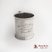 Antique Cup Christening Cup Sterling Silver Whiting 1880