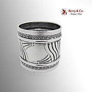 Napkin Ring Fluted Body Sterling Silver Wallace Silversmiths 1890