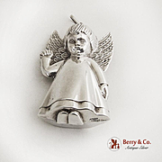 Angel Christmas Ornament RM Trush Sterling Silver