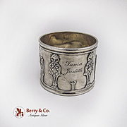 Vintage Sterling Silver Napkin Ring London 1897