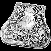 Continental Hanau Asparagus Sandwich Tongs Courting Scene German 800 Silver 1890