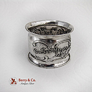 See Saw Margery Daw Nursery Rhyme Napkin Ring Sterling Silver 1900