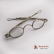American Coin Silver Spectacle Glasses 1860
