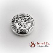 100th Performance Rob Roy Pill Box Gorham Sterling Silver Datemark 1894