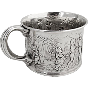 Follow The Leader Childs Cup Gorham Sterling Silver