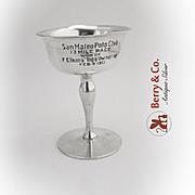Vintage Polo Trophy Goblet Shreve Treat And Eacret Sterling Silver