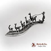 Peru Figural Group Llama Herder Sterling Silver