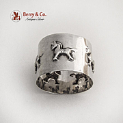 Hobby Horse Luncheon Napkin Ring Sterling Silver 1955
