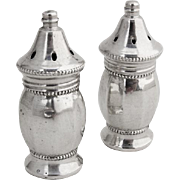 Vintage Small Salt Pepper Shakers Wallace Valentine Linsley Sterling Silver 1940