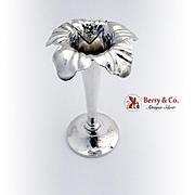 Art Nouveau Floral Bud Vase Mauser Mfg Co Sterling Silver