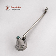 Navajo Small Candle Snuffer Turquoise Sterling Silver 1960