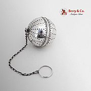 Vintage Beaded Tea Ball Gorham Sterling Silver 1900