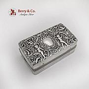 Ornate Cherub Curling Iron Kerosene Heater Sterling Silver Case 1904
