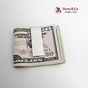 Vintage Mexican Sterling Silver Plain Money Clip