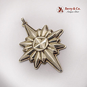 Christmas Star Ornament Pendant Reed And Barton Sterling Silver 1978