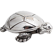 Vintage Figural Turtle Music Box Reed And Barton Silverplate