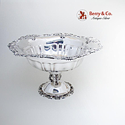 Baroque Large Pedestal Centerpiece Bowl Wallace Silverplate
