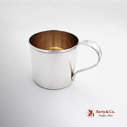 Modern Victorian Baby Cup Gold Lined Lunt Sterling Silver 1941