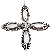 King Richard Cross Pendant Ornament Towle Sterling Silver 1932