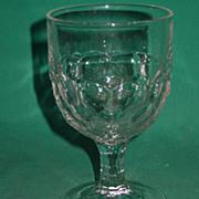 EAPG Goblet Honeycomb Water Wine Four Row Laredo or New York