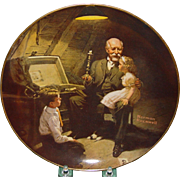 Norman Rockwell Grandpas Treasure Chest Plate 1984 Knowles Light Campaign Series