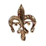 REDUCED Vintage 14K Gold  Fleur D Lis Brooch/ Watch Pin