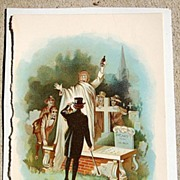 SALE Antique Chromo-Lithograph Print From Tom Brown School Days