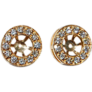 REDUCED Vintage 14K Gold & Diamond Earring Jackets