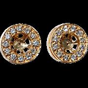 REDUCED Vintage 14K Gold & Diamond Earring Jackets