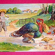 SALE 11-27-1907 Thanksgiving Grettings Postcard
