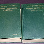 REDUCED Antique Two Volume Set-Military Operations of General Beauregard-Alfred Roman