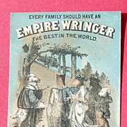 REDUCED Vintage Trade Card Empire Wringer Co.-The Wedding