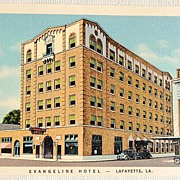 REDUCED Vintage Evangeline Hotel Lafayette Louisiana Postcard