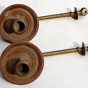 REDUCED Two Antique Piano Candle Sconce Arms