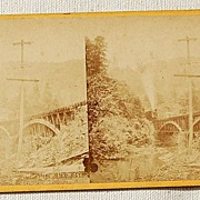 SALE 1871 Stereophotography Stereoview The Scenery Of The Pennsylvania Central Rail Road