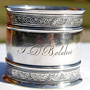 SALE Vintage Silverplate Napkin Ring T. D. Belcher