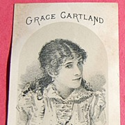SALE Victorian Advertising Card Grace Cartland as Blanche Redmond in Constable Hook