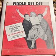 Vintage 1959 Fiddle Dee Dee Sheet Music